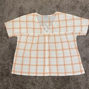 Madewell Button Front Top